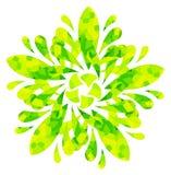 Modello acquerello - fiore astratto giallo verde Fotografie Stock