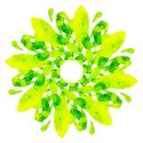 Modello acquerello - fiore astratto giallo verde Immagine Stock Libera da Diritti