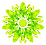 Modello acquerello - fiore astratto giallo verde Immagini Stock Libere da Diritti