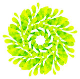 Modello acquerello - fiore astratto giallo verde Fotografia Stock Libera da Diritti