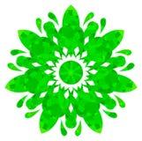 Modello acquerello - fiore astratto verde Immagini Stock
