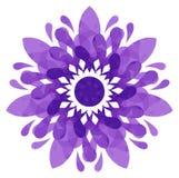 Modello acquerello - fiore astratto viola Fotografia Stock