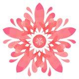 Modello acquerello - fiore dell'estratto di Rosa Immagini Stock