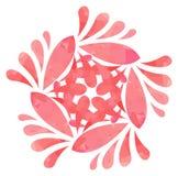 Modello acquerello - fiore dell'estratto di Rosa Fotografia Stock