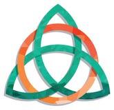Modello acquerello - triangolo celtico del cerchio del nodo Immagine Stock Libera da Diritti