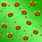 Modello adorabile 3 del fondo di Natale royalty illustrazione gratis