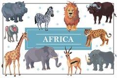 Modello africano degli animali del fumetto illustrazione di stock