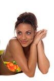 Modello africano del bikini Immagine Stock Libera da Diritti