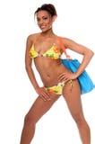 Modello africano del bikini Fotografie Stock Libere da Diritti