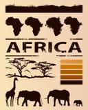 Modello africano di progettazione di viaggio Fotografia Stock Libera da Diritti