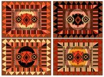 Modello africano ed arabo, ornamento dei colori marroni ed arancio Fotografie Stock Libere da Diritti