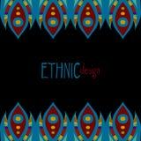 Modello africano etnico orizzontale Fotografia Stock Libera da Diritti