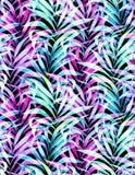 Modello al neon senza cuciture della palma Fotografie Stock