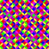 Modello al neon senza cuciture geometrico Immagine Stock