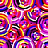 Modello al neon senza cuciture geometrico Immagini Stock Libere da Diritti