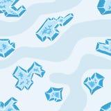 Modello al suolo del ghiaccio Fotografia Stock Libera da Diritti