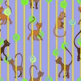 Modello alla moda dei gatti illustrazione vettoriale