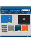 Modello alla moda del sito Web - disposizione della cartella fotografia stock