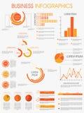 Modello alla moda di infographics per l'affare Fotografia Stock Libera da Diritti