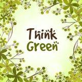 Modello alla moda per verde Think Fotografia Stock Libera da Diritti