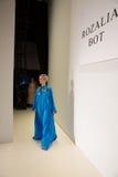 Modello alla ripetizione alla sfilata di moda di FTL Moda durante la caduta 2015 di MBFW Fotografia Stock