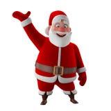 Modello allegro 3d del Babbo Natale, icona di natale felice, illustrazione vettoriale