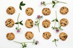 Modello americano di fiori e dei biscotti Immagine Stock