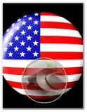 Modello americano di patriottismo Fotografia Stock Libera da Diritti