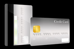 Modello anteriore e posteriore della carta di credito Fotografia Stock