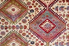Modello arabo di desoration del tappeto Fotografie Stock