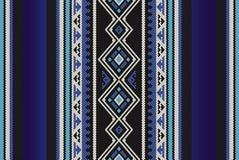 Modello arabo di tessitura della mano di Sadu delle gente tradizionali blu dettagliate Fotografia Stock