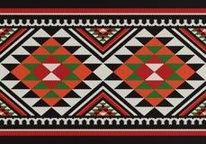 Modello arabo di tessitura della mano di Sadu delle gente tradizionali dei diamanti illustrazione di stock