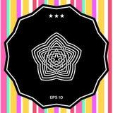 Modello arabo orientale geometrico Elemento per il vostro disegno marchio Fotografia Stock