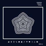 Modello arabo orientale geometrico Elemento per il vostro disegno marchio Immagine Stock