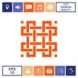 Modello arabo orientale geometrico tradizionale Elemento per il vostro disegno logotype Fotografia Stock