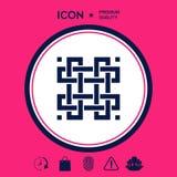 Modello arabo orientale geometrico tradizionale Elemento per il vostro disegno logotype Fotografie Stock Libere da Diritti