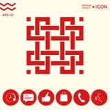 Modello arabo orientale geometrico tradizionale Elemento per il vostro disegno logotype Immagine Stock Libera da Diritti