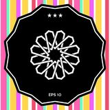Modello arabo orientale geometrico tradizionale Elemento per il vostro disegno marchio Immagine Stock