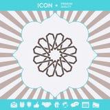 Modello arabo orientale geometrico tradizionale Elemento per il vostro disegno marchio fotografie stock