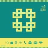 Modello arabo orientale geometrico tradizionale Elemento per la vostra progettazione - logo Fotografia Stock Libera da Diritti