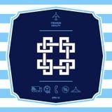 Modello arabo orientale geometrico tradizionale Elemento per la vostra progettazione - logo fotografie stock
