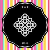 Modello arabo orientale geometrico tradizionale - logo Elemento per il vostro disegno Immagine Stock