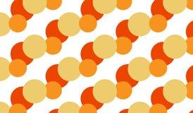 Modello arancio astratto moderno semplice dell'atomo Immagini Stock