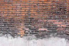 Modello arancio d'annata delle immagini di alta risoluzione del muro di mattoni Fotografie Stock Libere da Diritti