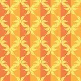 Modello arancio d'annata delle stelle astratte senza cuciture Fotografie Stock