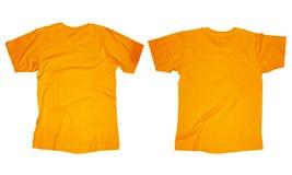 Modello arancio della maglietta Fotografia Stock Libera da Diritti