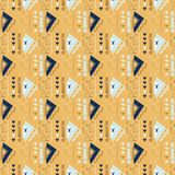 Modello arancio di vettore di Memphis Style Geometric Abstract Seamless illustrazione di stock