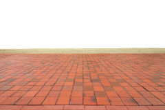 Modello arancio vuoto del pavimento non tappezzato sull'angolo di vista dell'occhio Immagine Stock
