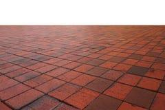 Modello arancio vuoto del pavimento non tappezzato sull'angolo di vista dell'occhio Fotografie Stock Libere da Diritti