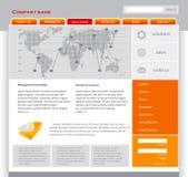 Modello arancione di Web page royalty illustrazione gratis